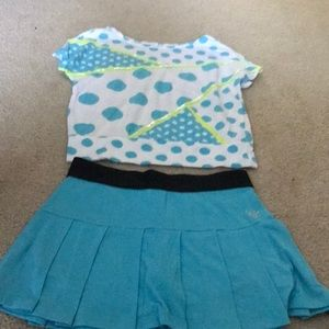 Matching justice outfit. Size 8. Shirt & skirt